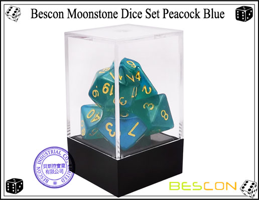 Peacock Blue Dice Set-2