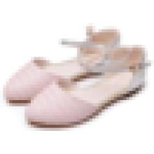 Женская мода платье обувь 2016 Летние дамы закрыты Toe плоские сандалии