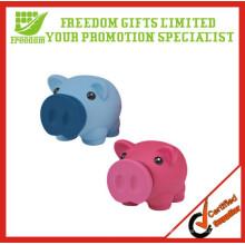 Banco de moneda de la forma del cerdo del PVC del vinilo de la promoción