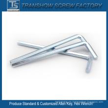 Llave hexagonal de acero al carbono galvanizado