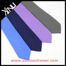 Cravates en soie pour hommes en couleurs unies bleu marine lilas gris cravates