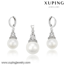 63961 Fashion Elegant Pearls Set de bijoux en rhodium