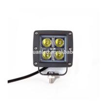 Luz de trabajo de voltaje de acero inoxidable 10-30v led de alta intensidad de rectángulo