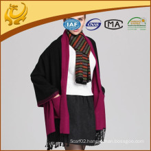 High Quality Fashionable China Factory 100% Viscose Wholesale Women Chal Shawl With Pockets