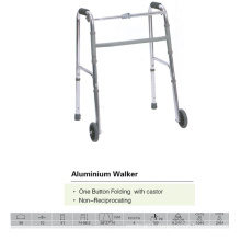 One Button Walker with Castors