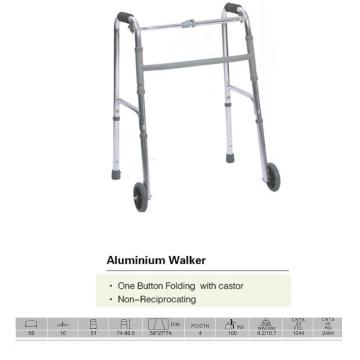 Caminante de un botón con ruedas