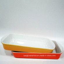 FDA Test Color Glazed Ceramic Bakeware