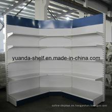 Estante del estante de exhibición del sistema de estantería de la esquina del supermercado (YD-018)