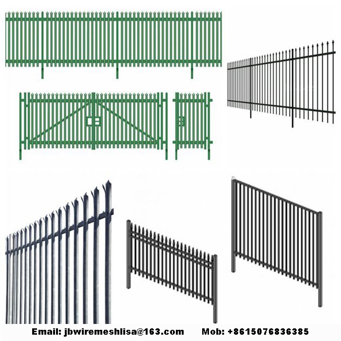 Powder Coated And Galvanized Palisade Fence Panels