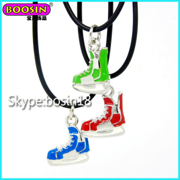 Cheap Metal Alloy Custom Enamel Skate Charm Necklace