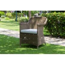 Cadeira de jantar de café resistente à moda Mobília de vime de rotinho de polietileno