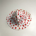 Baby Girl Bomull Poplin Strawberry Print Floppy Hat