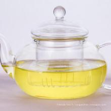 Théière en verre borosilicaté avec infuseur