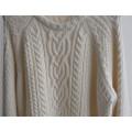 Дамы зимой узорный вязать свитер свитер
