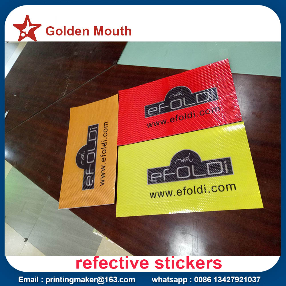 reflective stickers printing