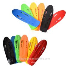 nouveau design haute qualité pp matériel plastique skateboard croiseurs ponts