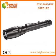 Factory Outlet 5 Modus Heavy Duty 2 * 18650 Lithium-Akku Powered 10watt High Power Zoom Fokus Cree Wiederaufladbare LED-Taschenlampe