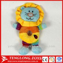2014 дополнительный мягкий короткий плюш игрушка льва с колокольчиком для ребенка