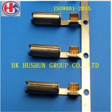 Bornes d'extrémité du cordon d'alimentation, borne de tube carré 2X4 avec placage de nickel (HS-ET-009)