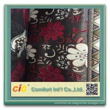 Tela 100% de la felpilla de la tela de chenille del sofá del poliéster para la cubierta del amortiguador del sofá