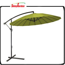 10 'Big Garden Cantilever Banana Umbrella con 18 costillas