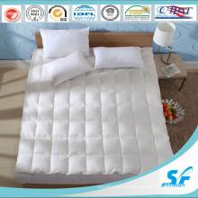 Relleno de plumas de ganso de 2-4cm y colchón de algodón