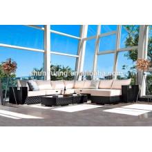 Outdoor rattan sofa cane wicker sofa sets garden rattan furniture