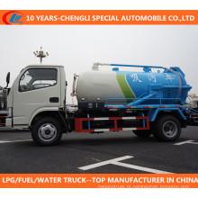 Diesel 90HP 4X2 3cbm ao caminhão do esgoto do caminhão da sucção da água de esgoto do vácuo de 5cbm
