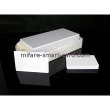 plain customized Scratch PVC White Card for Zebra card prin