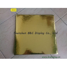 Rectangle Flower Edged with Plain Gold Foil Paper Cake Drums with SGS (B&C-K055)