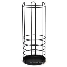 Round Metal Basket baseball Stand Holder Large Black Iron Umbrella Rack for Home and Office Deco Big Wire Entryway storage
