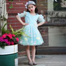 XXLF215 long sleeve flower pattern1-6 years old baby puffy little queen flowergirl dress