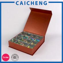 Caja de empaquetado del chocolate de las cajas del chocolate del papel hecho a mano