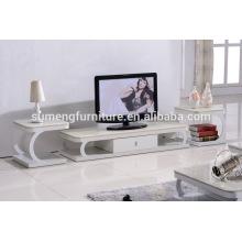 Dessus de meuble TV haut en verre fonctionnel