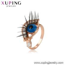 15325 Xuping bonne qualité nouveau design forme des yeux bijoux Chine Wholesale rose bague en or bijoux femmes