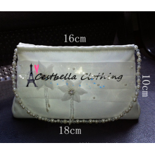 2016 Popular Flower Wedding Flower Bag /Bridal bag with Satin Ribbon