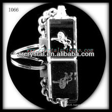 laser etched crystal keychain and blank crystal G066