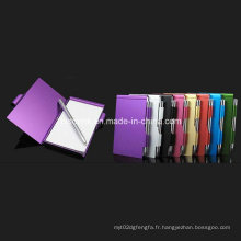 Porte-notes en aluminium pour cadeaux promotionnels