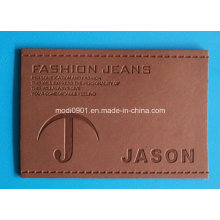 Color Changed Leather Patch for Garment High Quality Brown Vintage Washed Genuine Leather Label Patches