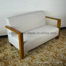 Rectangle White Fabric Restaurant Booth Sofa for Hotel (SP-KS267)