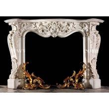 décor à la maison moderne européen sculpté à la main marbre cheminée manteau
