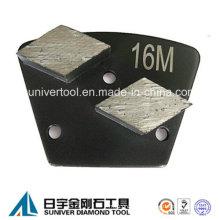 Double Segments Trapezoid Diamond Metal Concrete Floor Grinding Disc