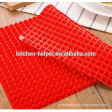Non-stick Non-toxic Silicone Pyramid Baking Mat Fat Reducing Oven Tray Sheet