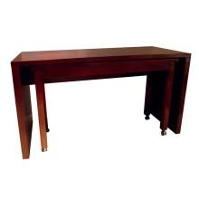 Mobília de madeira do hotel da mesa de jantar do hotel do retângulo