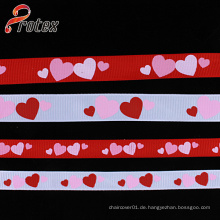 Yama Ribbon 1 Zoll 25mm Plaid Folower Serie Günstig gedrucktes Grosgrainband