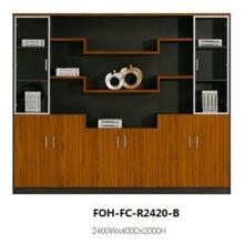 Hochwertige Luxus Antike hölzerne große Open Office File Cabinet (FOH-FC-R2420-B)