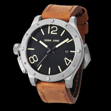 classic leather bracelet strap wrist watch
