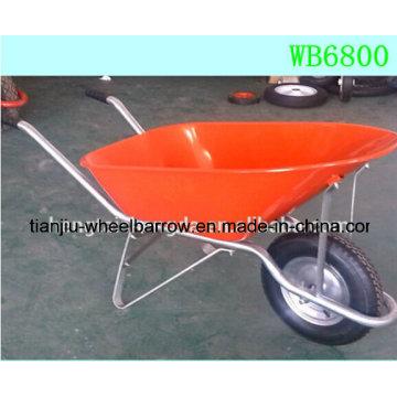 Projeto do carrinho de mão feito no carrinho de mão de aço resistente Wb6800 de China