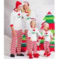 Pijamas rayados de la Navidad del pijamas de la Navidad del bebé del algodón del 100% 2016 para el bebé