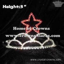 3inch Red Star Pageant Crowns